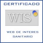 Certificado WIS web de interés sanitario